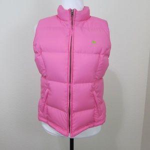 Lilly Pulitzer Puffer Vest Pink M Zipper Down